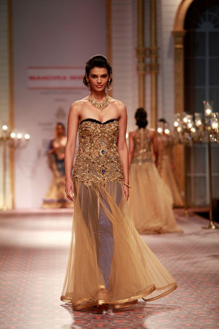 Mandira Wirk's glamorous bridal collection at the Amby Valley India Bridal Fashion Week