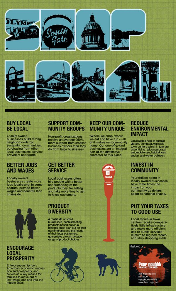 shop local by preston porter via behance shop local is a poster used