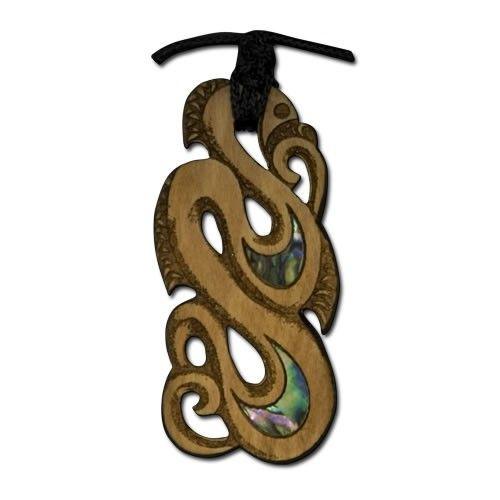 Rimu Maori Manaia Pendant