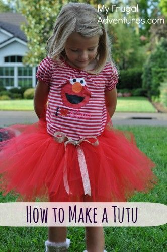 How to Make a LIttle Girls Tutu.  Perfect for dress up, gifts or Halloween costumes!  So easy and this will cost about $5.00 to make!
