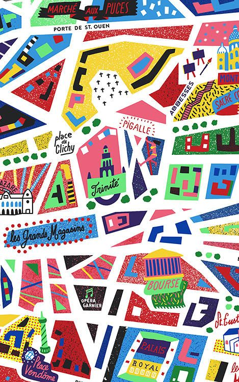 9 | An Awesome Neon Map Of Paris | Co.Design | business + design  Manchester and Paris