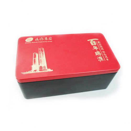 This rectangular metal cookie tin container with plug lid can be printed your desired design and 2-layer embossing to upscale your image of your products.