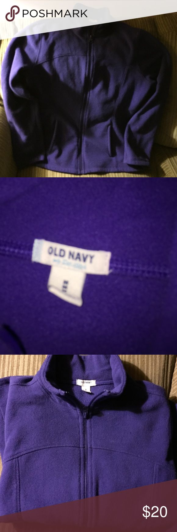 Old Navy Fleece zip up women's Only worn once this is a warm,flawless zip up in purple...💜 Old Navy Sweaters