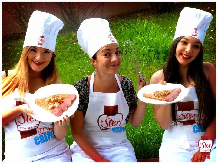 En plus des crêpes sucrées, nos Hôtes se sont également régalés avec les crêpes salées Le Ster Le Pâtissier !