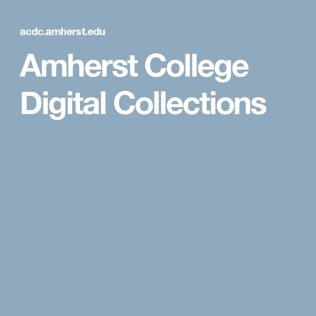 Amherst College Digital Collections