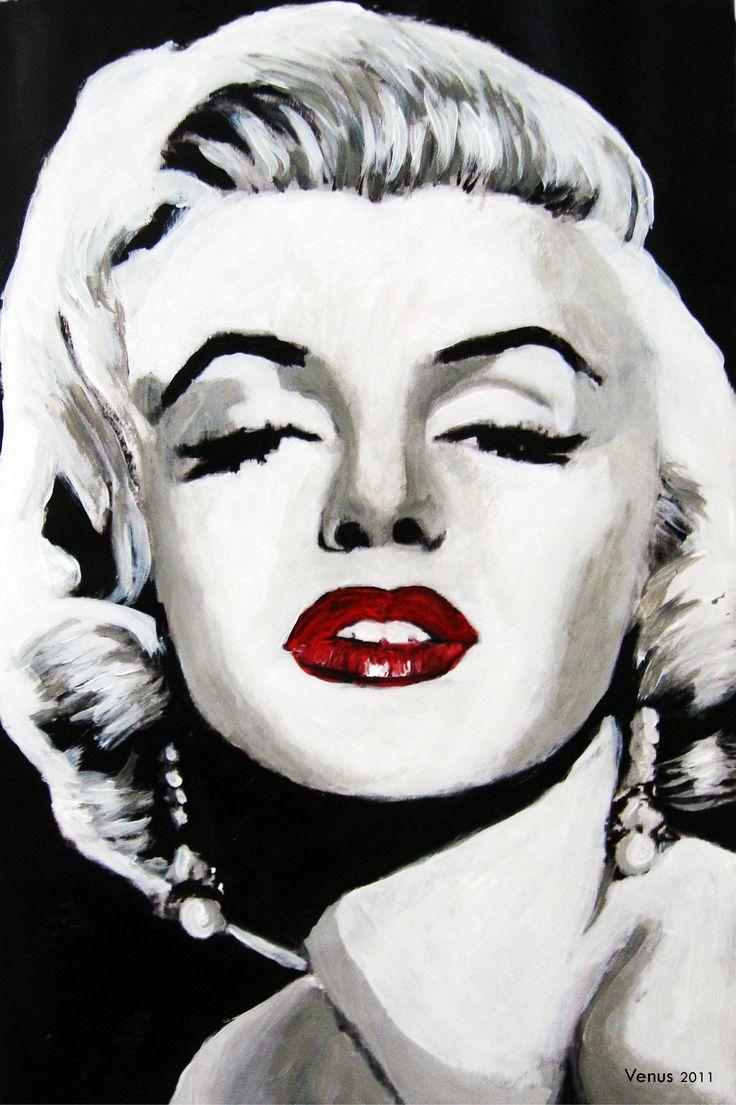 marilyn monroe pop art painting by venus 11 x 8 acrylic. Black Bedroom Furniture Sets. Home Design Ideas