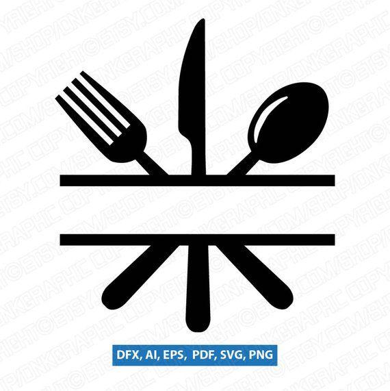 Image Result For Kitchen Utensils Split File Free Svg Monogram