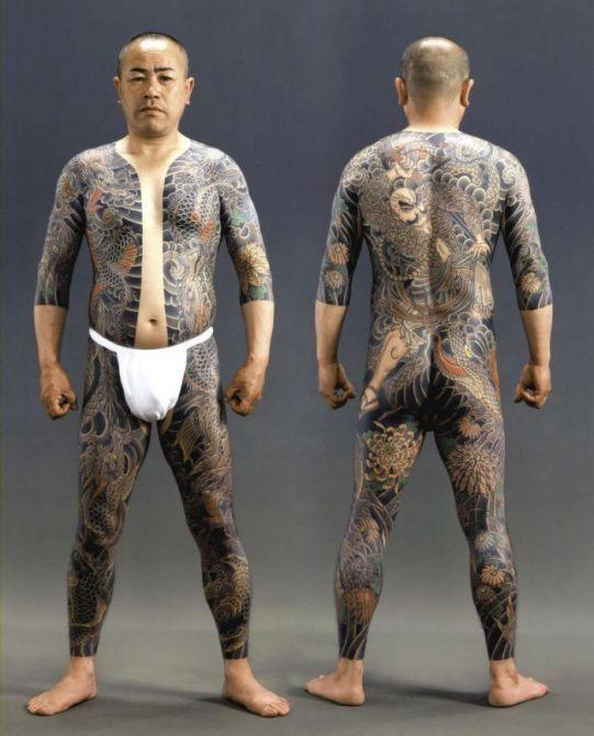Яркие татуировки якудза