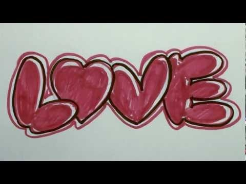 How To Draw Love In Bubble Letters
