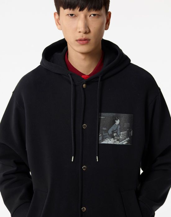 e11369e84 Kenzo Jackets Mens Black 'Ryuichi Sakamoto' Hooded Jacket Discount ...
