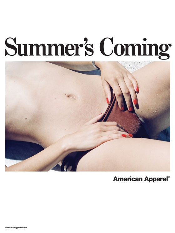 Inappropriate american apparel ads