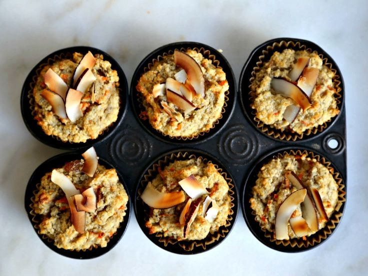 Gluten-Free Carrot-Coconut Muffins: Moist cakelike muffins with a lovely, nutty flavor that's perfect for breakfast