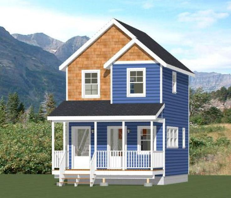 16x20 Duplex 574 sq ft PDF Floor Plan Instant