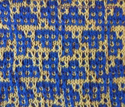 Cornflower knitting stitches