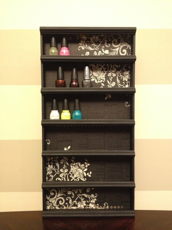 Nail Polish Rack! I need this! Lll
