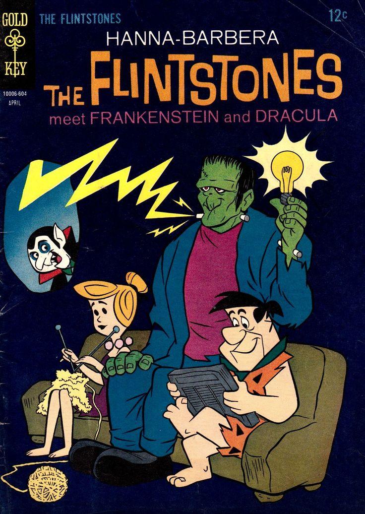 the flintstones meet frankenstein dracula comic click through - Flinstones Halloween