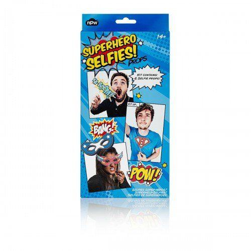 Das Superhelden Sefie-Set ist ein passendes Geschenk für Teenies und junge Erwachsene. Selfies sind schick und als Superheld noch schicker. Jetzt verschenken zum Geburtstag, zur Party oder als kleine Aufmerksamkeit an Freunde.