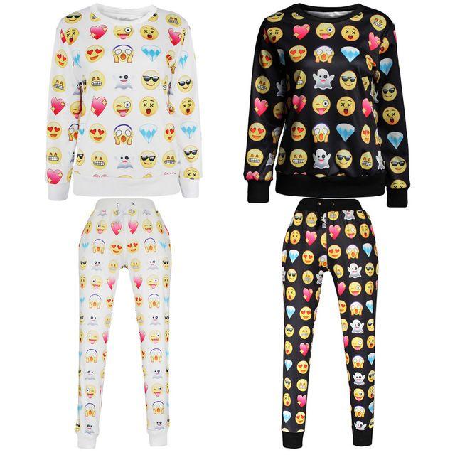 Online Shop 2015 New Printed Diamond Emoji Joggers 3D Print Tracksuit Clothes set Sweatshirts and Men Women Jogger Pants Sweater Sweatpants | Aliexpress Mobile