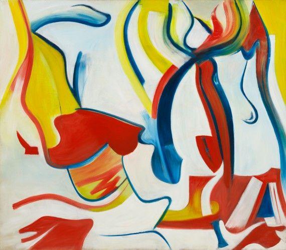rider (untitled vii) - willem de kooning, 1985 [de kooning: a retrospective - moma exhibition site]
