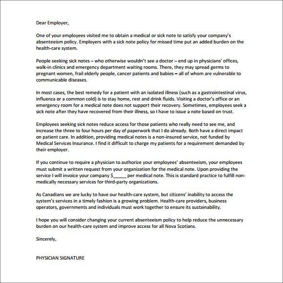 Image Result For Sick Business Days Letter Doctor Doctors Note