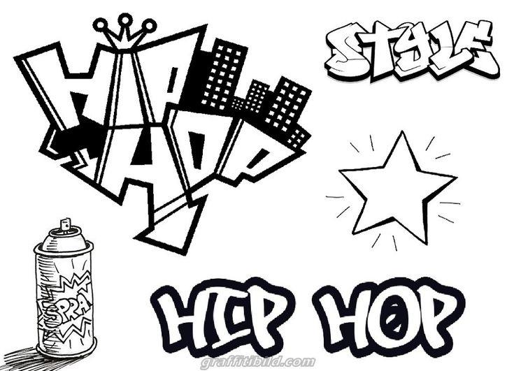 graffiti ausmalbilder hip hop  graffiti ausmalbilder zum