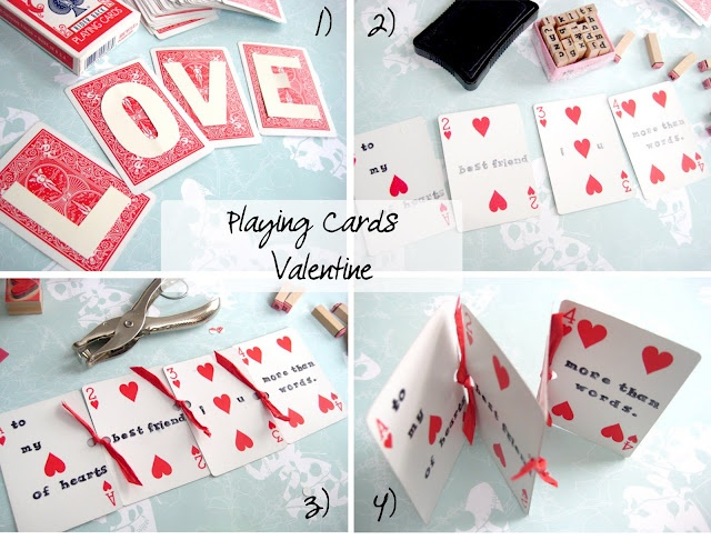 playing card message valentines