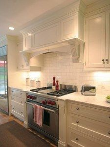 Coastal Ivory Kitchen Cabinets - RTA Kitchen Cabinets. Instructions of how to build ventahood top.