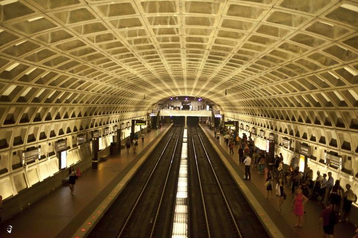 8. Washington Metro, Washington D.C. | All of the D.C. metro features coffered ceilings and attention to detail making the whole system pretty. | www.eklectica.in #eklectica