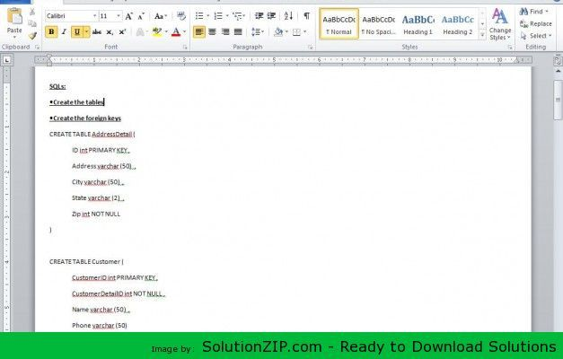 DL: http://solutionzip.com/downloads/sales-erd-modified-sql/ Using the DBMS you chose in the previous Discussion Board assignment, download and install that software to prepare for the Database and Data Model to be created. Once the software is running and the database is available, complete the following: Create the physical data model for the logical data model that you submitted in IP3. This should include all of the data definition language SQL.
