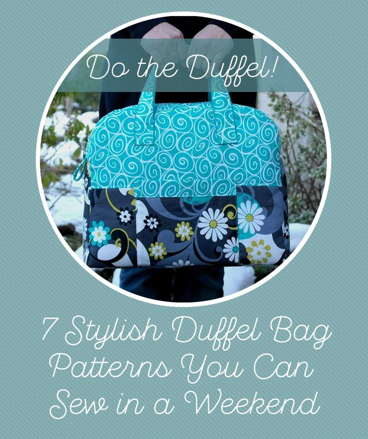 7 different duffel bag patterns to sew.  All for the adventurous beginner to intermediate sewer.  Large and small, and even one that can hold your sewing machine!  Great weekender bags too.