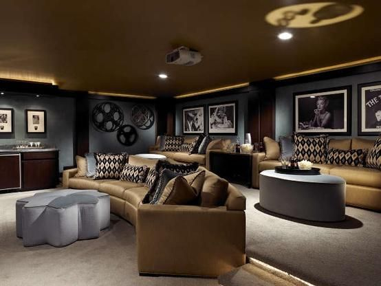 515 best home theatre media room images on pinterest home ideas home theatre and movie theater. Black Bedroom Furniture Sets. Home Design Ideas