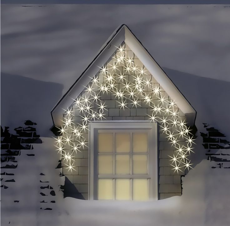 Warm White Outdoor Christmas Lights: Beautiful warm white LED Icicle Lights can transform the outside of your  home. http:,Lighting