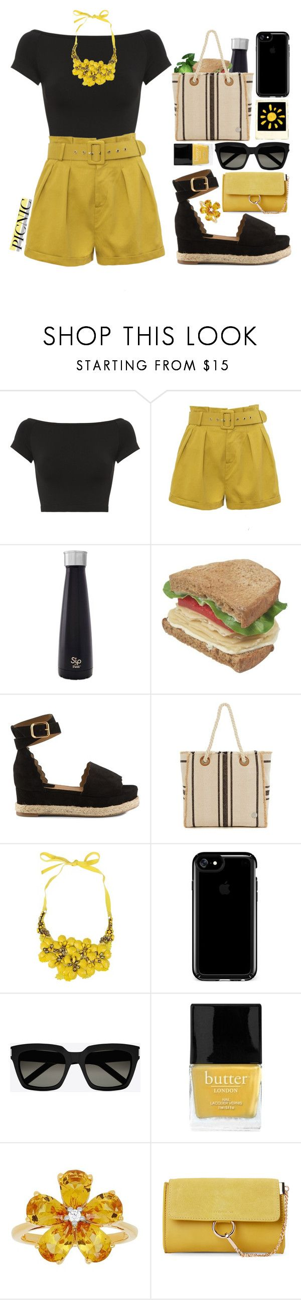 """""""Summer Picnic"""" by xxfashiongirl12xx ❤ liked on Polyvore featuring Helmut Lang, S'well, Chloé, Vince Camuto, Alberta Ferretti, Speck, Yves Saint Laurent, Polaroid, Butter London and David Tutera"""