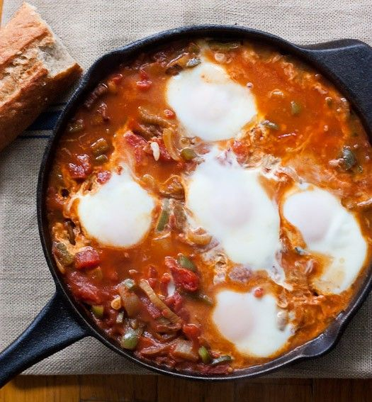 Middle Eastern version of my favorite Spanish egg dish. Could be breakfast but I'd eat it for dinner.