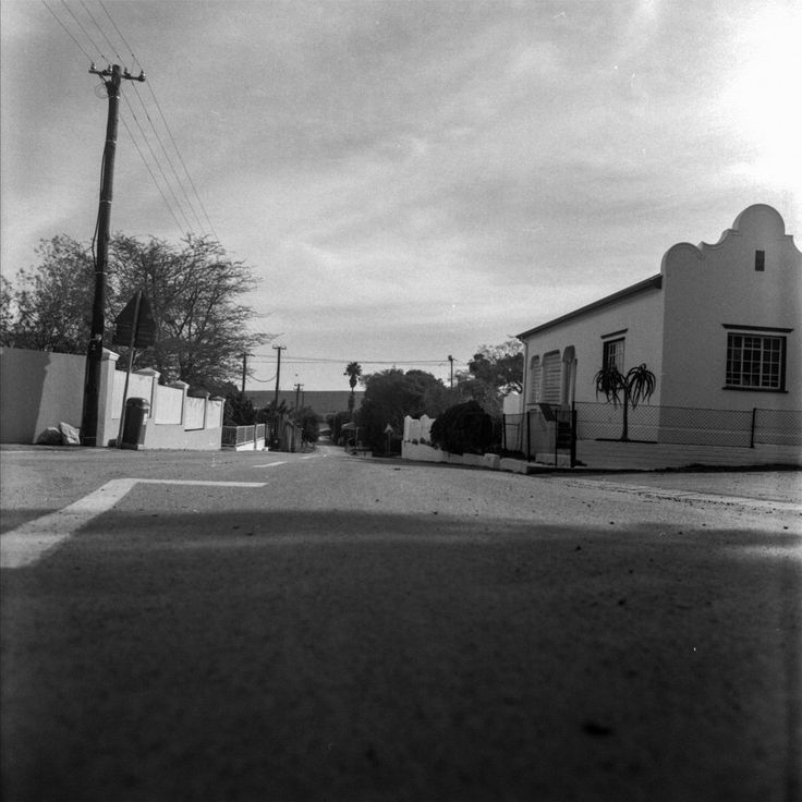 Philadelphia, Western Cape, Small artist town - First attempts at using the Bronica with a Komura 50mm lens and Ilford HP5+ Had to adjust the exposure and levels, over exposed too much between light meter reading and available shutter speed and aperture settings. Medium format equipment is very different to what I'm used to.