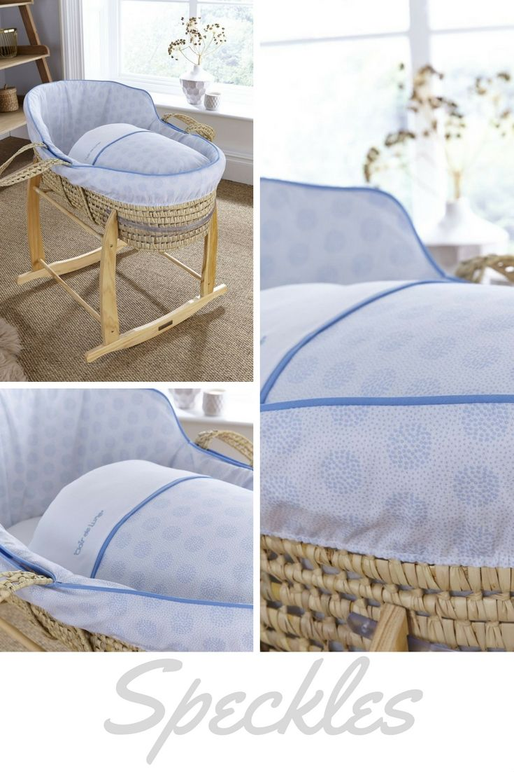 Settle Your Baby To Sleep In The Clair De Lune Speckles High Top Palm Moses  Basket