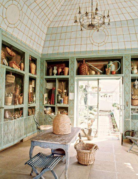 Bunny Mellonu0027s Oak Spring Residence. Artist Fernand Renard Painted The  Trompe Lu0027oeil Shelving