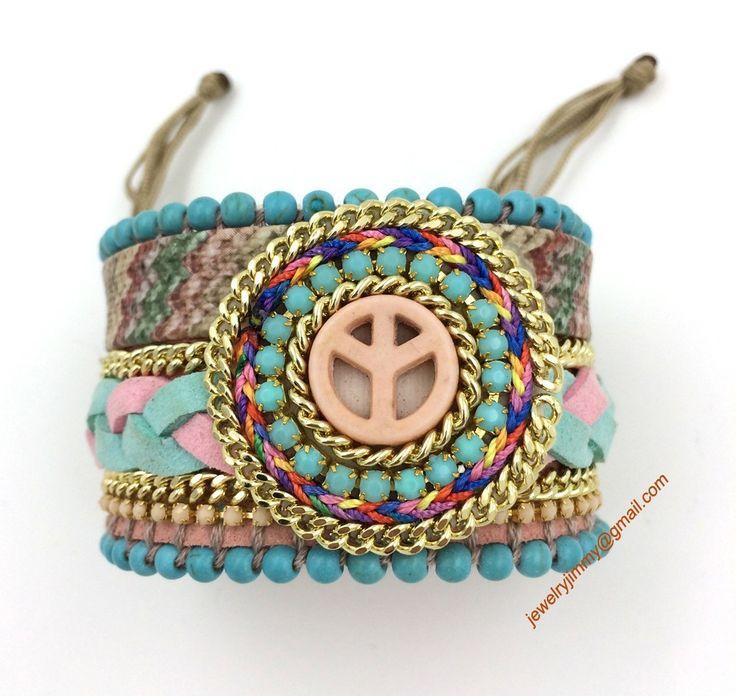 Aliexpress.com: Compre 2017 nova Europeu Jóias Exclusivas feitas à mão frisado Pulseira envoltório pulseiras Boemia Tauren encantos pulseiras de confiança charme talão fornecedores em J&M Fashion Items on line