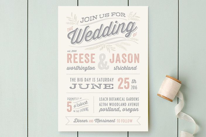 Rustic Charm Wedding Invitations by Hooray Creative at minted.com