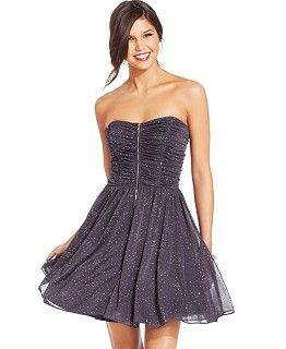 xscape embellished strapless babydoll dress dresses women