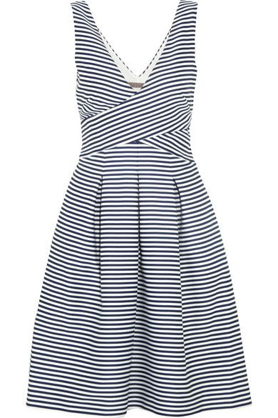 halston heritage striped satin dress.