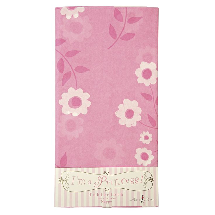 I'm a Princess Tablecloth ~  A pretty, pink tablecloth with a floral pattern fit to lay a princess' banquet on.  £7.00