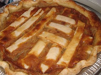 """Tarte au Sucre is a French term meaning """"sugar pie."""" It's made by Acadians and Quebecois. Wash down with strong coffee!"""