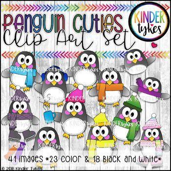 Penguin Cuties Clip Art Set