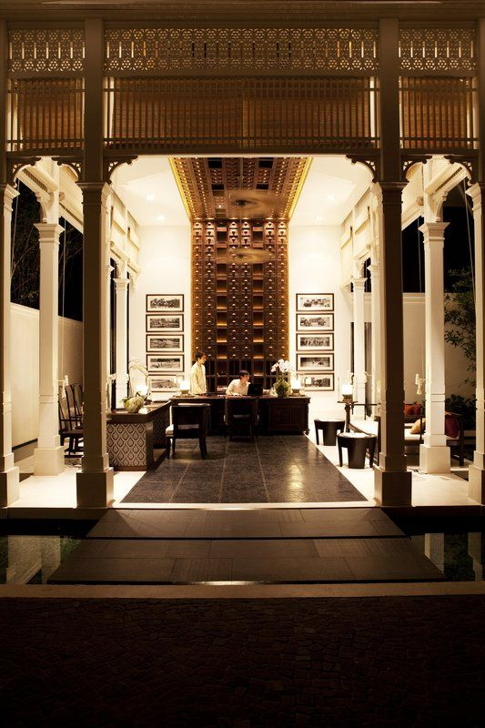 ...the lobby at 137 Pillars House