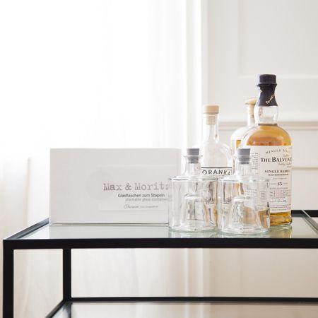 Max & Moritz by #raumgestalt #galassware #oil #balsamico #tableware #whiskey #mooris