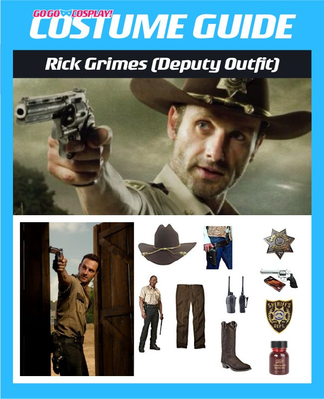 DIY Rick Grimes TWD Season 1 Deputy Costume Guide for cosplay or halloween #rickgrimes #thewalkingdead #cosplay