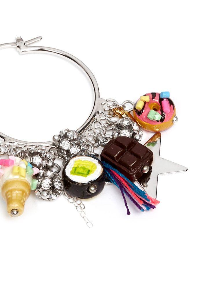 VENESSA ARIZAGA - 'Just Desserts' hoop earrings | Multi-colour Earrings Fashion Jewellery | Womenswear | Lane Crawford
