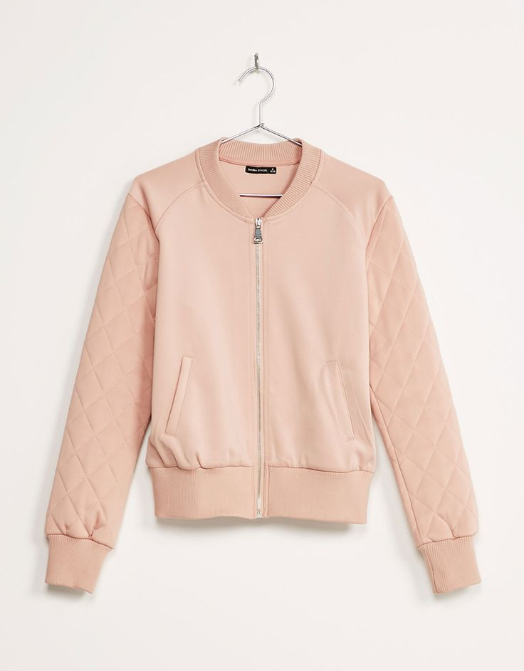 Quilted sleeve jacket. Discover this and many more items in Bershka with new…