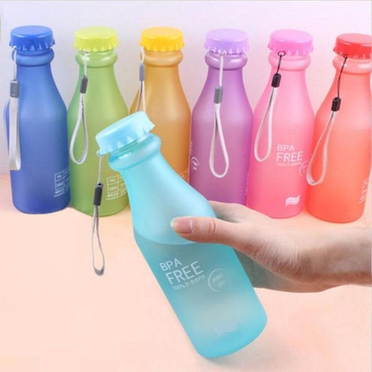 Candy Colors Bpa Free Unbreakable Water Bottle 550ml Portable Water Bottle Bpa Free Water Bottles Bottle